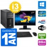 "PC Tour Fujitsu P400 Ecran 27"" i3-3220 RAM 8Go Disque Dur 500Go Windows 10 Wifi"
