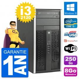PC Tour HP Pro 6300 CMT Intel i3-2120 RAM 8Go Disque Dur 250Go Windows 10 Wifi