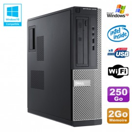 PC DELL Optiplex 3010 DT Intel G640 2.8Ghz 2Go 250Go DVD WIFI HDMI Win XP