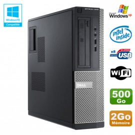 PC DELL Optiplex 3010 DT Intel G640 2.8Ghz 2Go 500Go DVD WIFI HDMI Win XP
