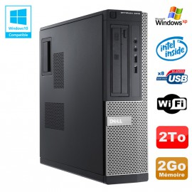 PC DELL Optiplex 3010 DT Intel G640 2.8Ghz 2Go 2000Go DVD WIFI HDMI Win XP