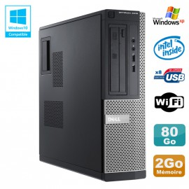 PC DELL Optiplex 3010 DT Intel G2020 2.9Ghz 2Go 80Go DVD WIFI HDMI Win XP