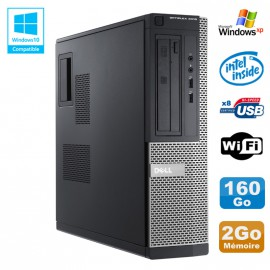 PC DELL Optiplex 3010 DT Intel G2020 2.9Ghz 2Go 160Go DVD WIFI HDMI Win XP