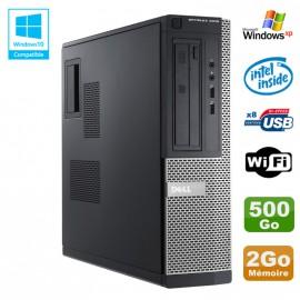 PC DELL Optiplex 3010 DT Intel G2020 2.9Ghz 2Go 500Go DVD WIFI HDMI Win XP