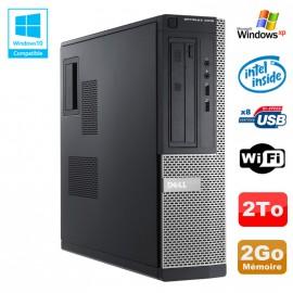 PC DELL Optiplex 3010 DT Intel G2020 2.9Ghz 2Go 2000Go DVD WIFI HDMI Win XP