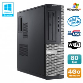 PC DELL Optiplex 3010 DT Intel G2020 2.9Ghz 4Go 80Go DVD WIFI HDMI Win XP