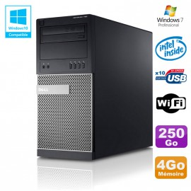 PC Tour Dell Optiplex 790 Intel G630 2,7Ghz 4Go Disque 250Go DVD WIFI Win 7