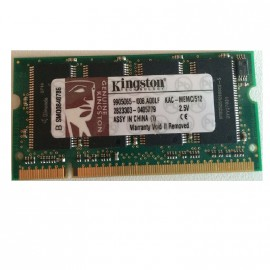 512Mo RAM PC Portable SODIMM Kingston KAC-MEMC/512 DDR1 PC-2700 333MHz