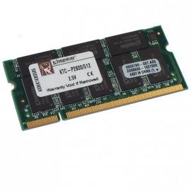 512Mo RAM PC Portable SODIMM Kingston KTC-P2800/512 DDR1 PC-2100 266MHz