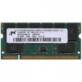512Mo RAM PC Portable SODIMM Micron MT16VDDF6464HG-265C2 DDR1 PC-2100 266MHz