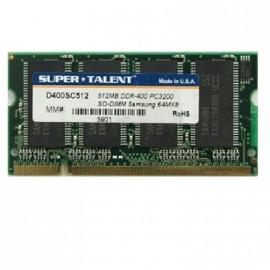 512Mo RAM PC Portable SODIMM Super Talent D266SC512 DDR1 PC-2100 266MHz