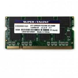 1Go RAM PC Portable SODIMM Super Talent D333SB1G/I DDR1 PC-2700 333MHz