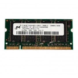 512Mo RAM PC Portable SODIMM Micron MT8VDDT6464HDG-335C1 DDR1 PC-2700 333MHz