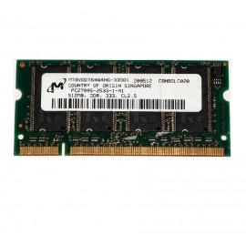 512Mo RAM PC Portable SODIMM Micron Tech MT8VDDT6464HG-335D1 DDR1 PC-2700 333MHz