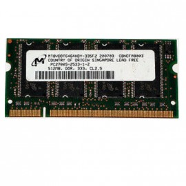 512Mo RAM PC Portable SODIMM Micron Tech MT8VDDT6464HDY-335F2 DDR1 PC-2700 333MHz