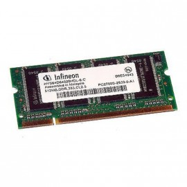 512Mo RAM PC Portable SODIMM Infineon HYS64D64020HDL-6-C DDR1 PC-2700 333MHz