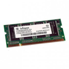 512Mo RAM PC Portable SODIMM Infineon HYS64D64020HDL-6-B DDR1 PC-2700 333MHz
