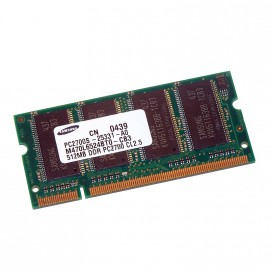 512Mo RAM PC Portable SODIMM Samsung M470L6524BT0-CB3 DDR1 PC-2700 333MHz