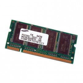 512Mo RAM PC Portable SODIMM Samsung M470L6524BT0-CB0 DDR1 PC-2100 266MHz