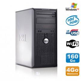 PC Tour DELL Optiplex 360 MT Intel E7400 2.8Ghz 4Go Disque 160Go DVD WIFI Win XP