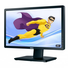 """Ecran Plat PC 20"""" LED DELL P2012HT 51cm 1600x900 Réglable DVI VGA HUB USB VESA"""