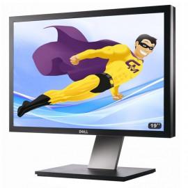 "Ecran Plat PC 19"" LCD DELL P1911B 48cm 1440x900 Réglable DVI VGA HUB USB VESA"