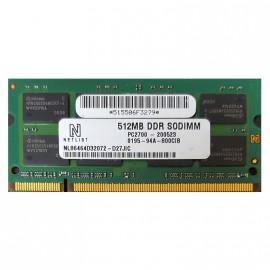 512Mo RAM PC Portable SODIMM Netlist NL86464D32072-D27JIC DDR1 PC-2700 333MHz