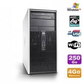PC Tour HP DC5850 MT Athlon 64 X2 2.6Ghz 4Go Disque 250Go DVD WIFI XP