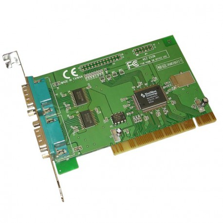 Carte Pci 2 Ports Série RS-232 DB9 MOSCHIP KEC222N UART Windows Linux Pc