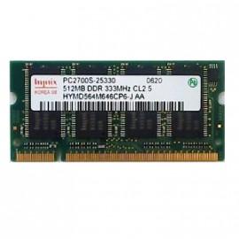 512Mo RAM PC Portable SODIMM Hynix HYMD564M646CP6-J DDR1 PC-2700S 333MHz