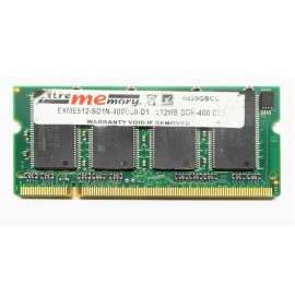 512Mo RAM PC Portable SODIMM Extrememory EXME512-SD1N-400D30-D1 DDR1 PC-3200S