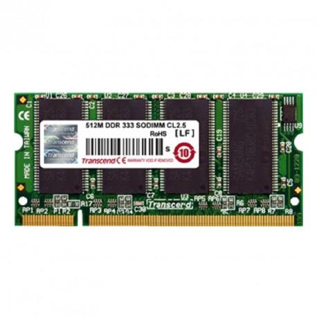 512Mo RAM PC Portable SODIMM Transcend TS64MSD64V3M DDR1 PC-2700 2Rx16 333MHz