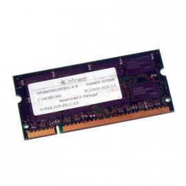 512Mo RAM PC Portable SODIMM Infineon HYS64D64020GBDL-6-B DDR1 PC-2700S 333MHz