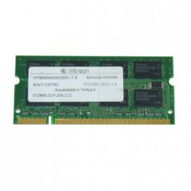 512Mo RAM PC Portable SODIMM Infineon HYS64D64020GBDL-7-B DDR1 PC-2100S 266MHz