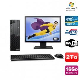 "PC Lenovo M90P 5864 Core i5-650 3.2GHz 16Go 2000Go Graveur WIFI W7 + Ecran 19"""