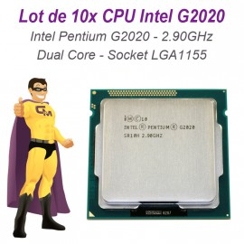 Lot 10x Processeurs CPU Intel Pentium G2020 2.9Ghz 3Mo LGA1155 Dual Core SR10H