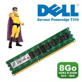 8Go RAM Serveur Transcend TS1GKR72V3H DDR3 PC3-10600R 2Rx8 1333MHz Dell T310