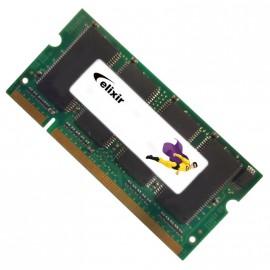512Mo RAM PC Portable SODIMM Elixir M2S51264DSH8A0F-6K DDR1 CL2.5 PC-2700 333MHz