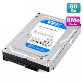 """Disque Dur 80Go SATA 3.5"""" Western Digital Caviar Blue WD800AAJS-65M0A0 7200RPM 8Mo"""