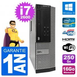 PC Dell OptiPlex 390 SFF i7-2600 RAM 16Go Disque Dur 250Go HDMI Windows 10 Wifi