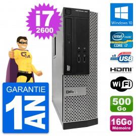 PC Dell OptiPlex 390 SFF i7-2600 RAM 16Go Disque Dur 500Go HDMI Windows 10 Wifi
