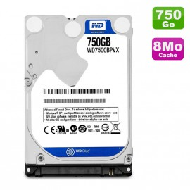 "Disque Dur 750Go SATA 2.5"" Western Digital Scorpio Blue WD7500BPVX Pc Portable"