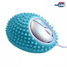 Souris Optique Filaire Heden Sanse Bleue Massage 3 Boutons 1000DPI USB Pc Mac