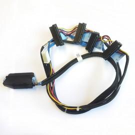 Câble Cordon Nappe Dell T410 4x Disque dur SATA SAS RAID 0W747G PERC 6 SFF-8484