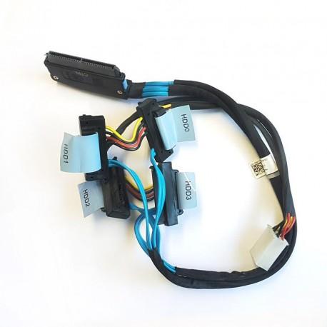 Câble Cordon Nappe Dell T310 4x Disque dur SATA SAS RAID 0D385M PERC 6 SFF-8484