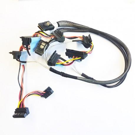 Câble Cordon Nappe Dell T110 6x Disque dur SATA SAS RAID 073J01 H200 SFF-8087