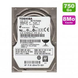 """Disque Dur 750Go SATA 2.5"""" Toshiba MK7575GSX Pc Portable 5400RPM 8Mo"""