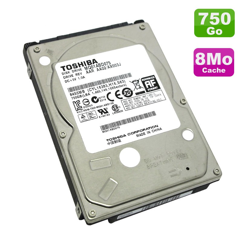 disque dur 750go sata 2 5 toshiba mq01abd075 pc portable 5400rpm 8mo monsieurcyberman. Black Bedroom Furniture Sets. Home Design Ideas