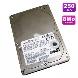 "Disque Dur 250Go IDE ATA 3.5"" Hitachi Deskstar T7K250 HDT722525DLAT80 7200RPM 8Mo"