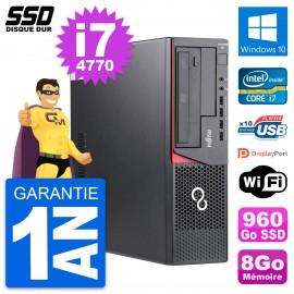 PC Fujitsu Esprimo E720 E85+ DT Intel i7-4770 RAM 8Go SSD 960Go Windows 10 Wifi